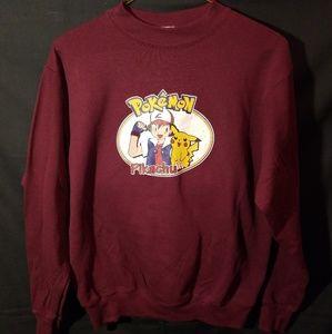 Sweaters - Vintage 90s Pokemon Crew Neck Sweatshirt Pikachu